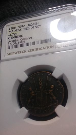 Authentic Shipwreck Coin 1808 NGC Certified for Sale in Wenatchee, WA