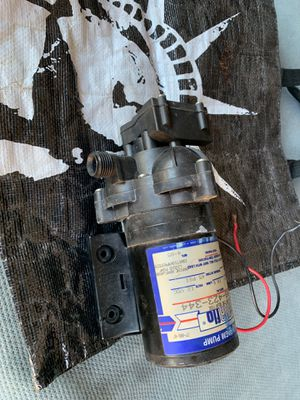 Sureflow diaphragm pump works good inlet connection is broken (can be tapped). Good for parts or repair for Sale in Garden Grove, CA