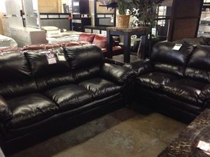 Dark Brown Sofa and Love Seat for Sale in Baltimore, MD