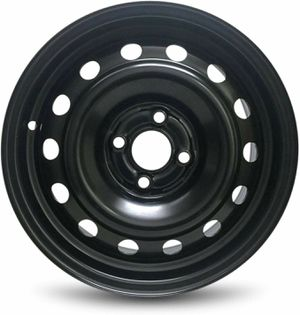 All 4 Clean Black Oem W/ 50% Tread Fits 02 Civic Etc. With a New 5th Tire for Sale in San Bernardino, CA
