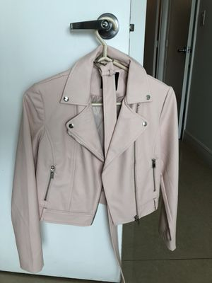 Forever 21 size small light pink faux leather jacket. Condition: new for Sale in Miami, FL
