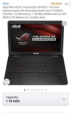 Asus gaming laptop for Sale in Stockton, CA