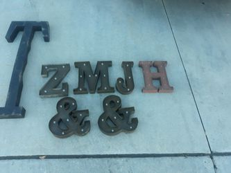 Light Up Metal Letters for Sale in San Jacinto,  CA