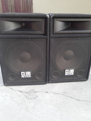 CLUB PRO SYSTEM DJ-15 PRO SPEAKER 700 WATTS MAX for Sale in Long Beach, CA