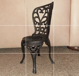"Cast iron mini chair. A little over 12"" tall for Sale in West Valley City,  UT"
