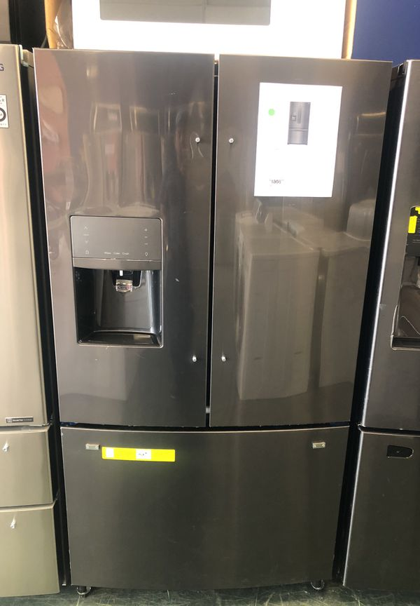 Brand new FRIGIDAIRE GALLERY black stainless steel French door with one year warranty