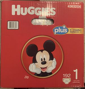 Huggies plus diapers. size 1 for Sale in Tempe, AZ