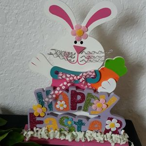 Wooden Happy Easter Bunny Rabbit Decorative Accent for Sale in Keizer, OR