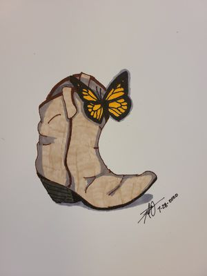 Butterfly and Cowboy Boot for Sale in Gilmer, TX