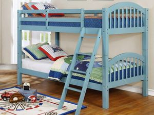New! Sky Blue Twin/Twin Bunkbed + FREE DELIVERY!!! for Sale in Columbia, MD