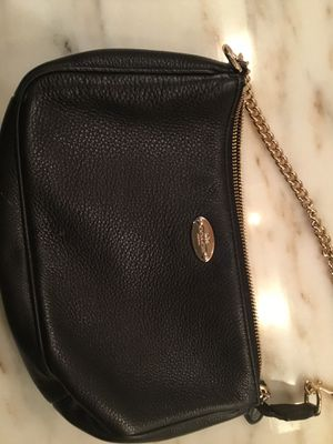 Coach black pebbled leather purse with gold chain strap for Sale in Boston, MA