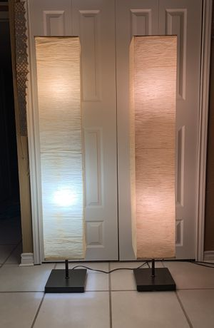 Japanese Paper Floor Lamp (2 Available) for Sale in The Colony, TX