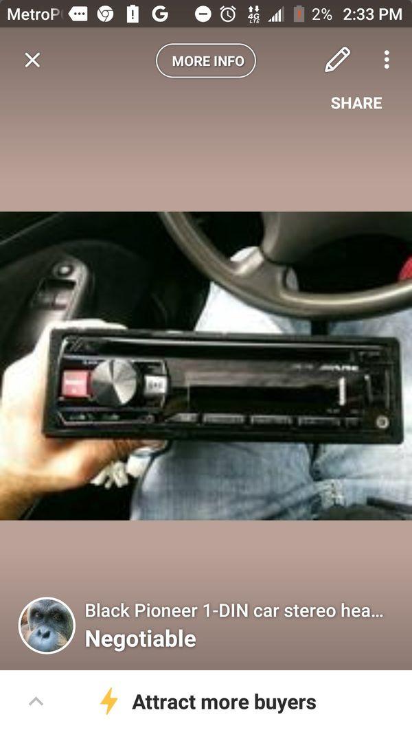 Alpine car stereo