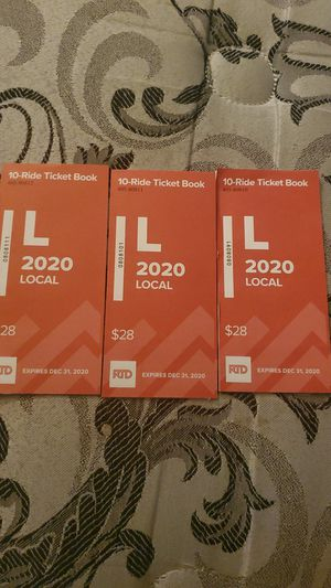 10 ticket book x3 for Sale in Denver, CO