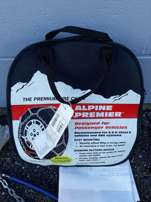 Used Alpine Premier 1545 Snow Tire Chains Class S 14 15 16 for Sale in Sedro-Woolley, WA