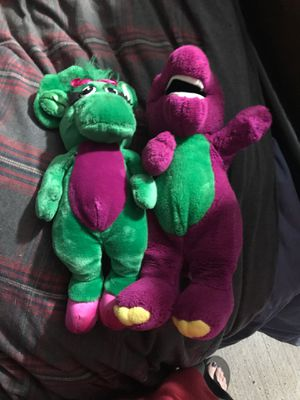 Barney and friends plush toys for Sale in Charlotte, NC