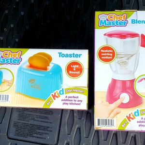 Chef Master Kid Pretend Blender And Toaster for Sale in Lowell, OR