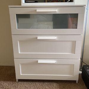 """3 Chest Drawer Dresser Storage White 30 3/4x37 3/8 """" for Sale in Buena Park, CA"""
