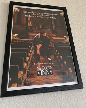 "Movie Poster in wood and glass 12 x 18"" frame for Sale in Ripon, CA"