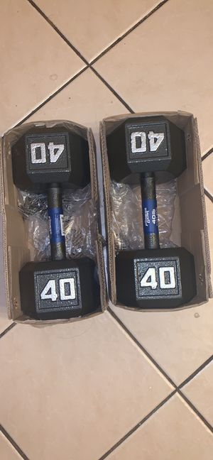 NEW DUMBELL SET 40 LBS for Sale in Chicago, IL