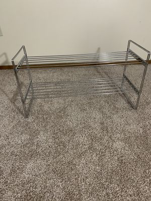 2 Tier Stackable Closet Shelves, Metal - Chrome for Sale in Cranberry Township, PA