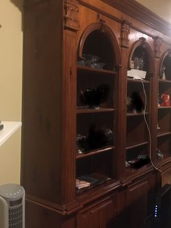 Wood Wall Unit / Bookcase / Display Shelving with Storage for Sale in Renton,  WA
