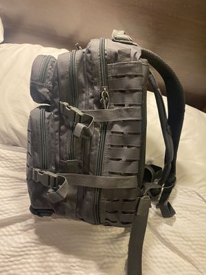 Brand New Authentic MIL-Tec Urban Grey Laser Cut Assault Backpack 20L Biking Hiking camping military for Sale in Downers Grove, IL