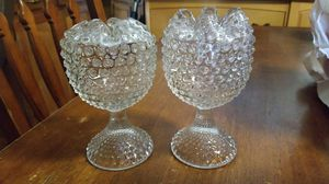 Heavy glass candle/ flower holders for Sale in Port St. Lucie, FL