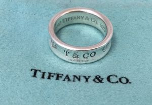 Authentic Tiffany & Co. 1837 Sterling Silver Concave Ring (size 7) for Sale in Alexandria, VA