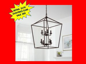 8-Light Bronze Caged Chandelier by Home Decorators Collection. Brand New! for Sale in Fort Lauderdale, FL