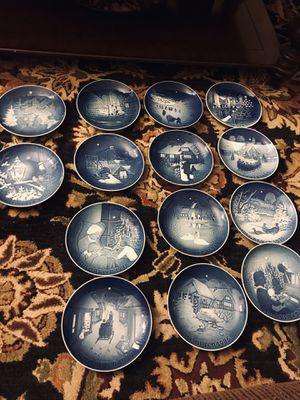 B&G Bing Grondahl Copenhagen Porcelain Made for sale  Denmark Collector Chiristmas Plates Jule After plates, perfect condition. for Sale