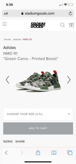 Adidas Men's 8 Green Camo Printed Boosts for Sale in Oakland, CA