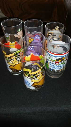 Set of vintage McDonald collectible glasses for Sale in New York, NY