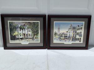 2 Piece Meeting Street Charleston SC Framed Art for Sale in New Port Richey, FL