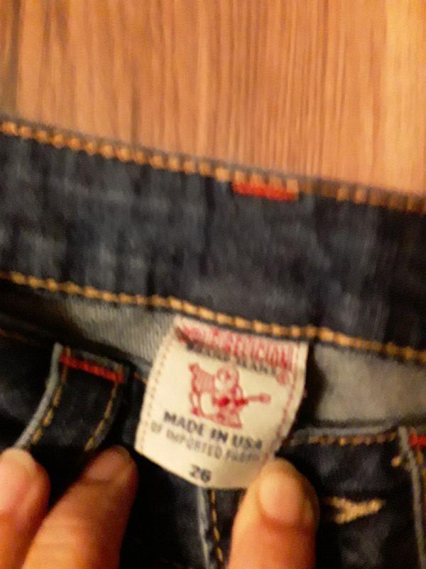 True Religion size 26 womens bootcut jeans.