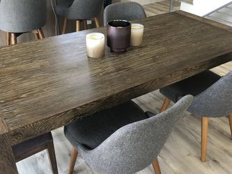 Modern Solid Wood Table w Brass Inlet for Sale in Glendale, CA