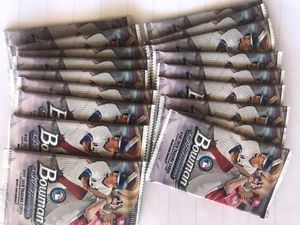 2018 bowman platinum 5 card packs (18 pack lot) for Sale in Upland, CA