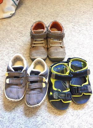 Lot of 3 size 8 toddler kids boys shoes for Sale in Tempe, AZ