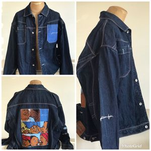 Vtg Mens Platinum FUBU denim jacket 2XL for Sale in Chino, CA