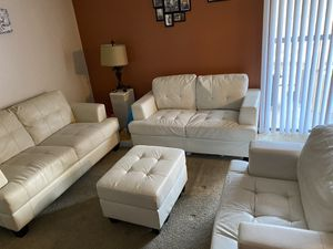 White leather couches sold separately for Sale in Tolleson, AZ