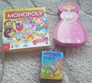 Jr Monopoly, puzzle and card game for Sale in Portland, OR
