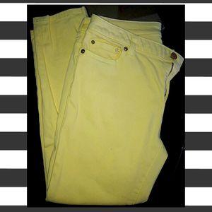 Michael Kors Yellow Pastel Skinny Jeans for Sale in Millstone, NJ