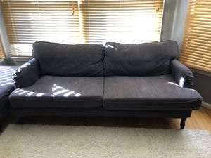 Gray Couch with Ottoman for Sale in Reston, VA