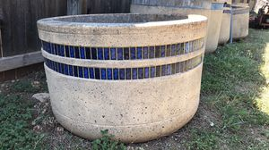 Concrete planters - xtra large 6/1k for Sale in San Antonio, TX