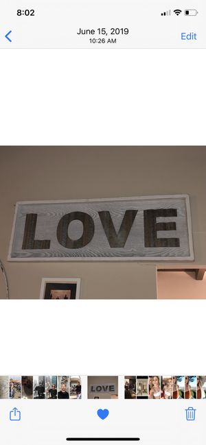 3 ft metal and wood LOVE sign for Sale in Los Angeles, CA