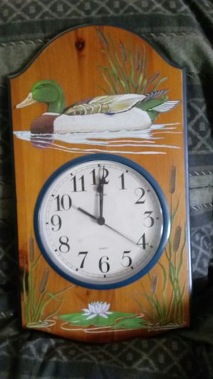 Hunting fish clock for Sale in Wildomar, CA