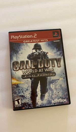 Call of Duty world at war ps2 $8 for Sale in Los Angeles, CA