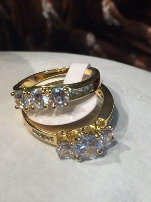 18k Gold Filled 2Pcs Wedding Ring Set Size 5,7,8 for Sale in Nashville, TN