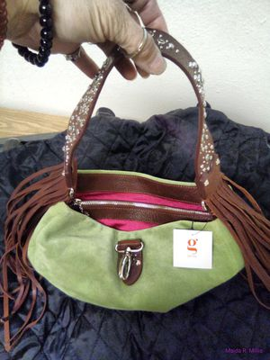 """""""g"""" Series Green Suede hobo style shoulder bag for Sale in Aurora, CO"""