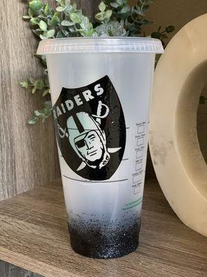 Venti black glitter raiders cups for Sale in Gilroy, CA
